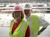 Inside Jerry Jones' suite at the Dallas Cowboys New Stadium
