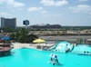 View of Arlington's Entertainment District from Hurricane Harbor