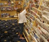 Shopping at Borders Book Store