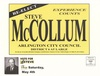 Campaign mailer for R. Steve McCollum