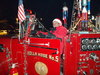Santa's special fire engine for the Holiday Lights Parade in Downtown Arlington
