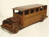 Splendid oak model of 1930's bus
